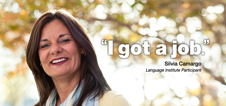 """Silvia Camargo - """"I got a job."""""""